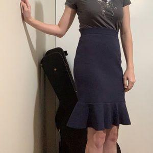 High Waist Peplum Skirt